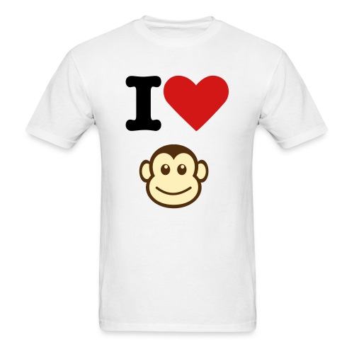 I Heart Monkey - Men's T-Shirt