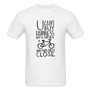 U Can't Buy Happiness But You Can Buy a Bike - Men's T-Shirt
