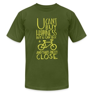 U Can't Buy Happiness But You Can Buy a Bike - Men's T-Shirt by American Apparel