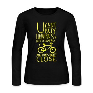 U Can't Buy Happiness But You Can Buy a Bike - Women's Long Sleeve Jersey T-Shirt