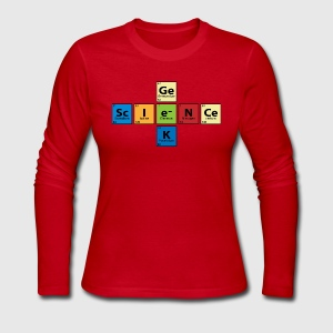 Science Geek  Long Sleeve Shirts - Women's Long Sleeve Jersey T-Shirt