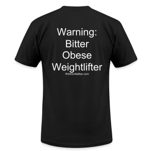 Mens SAVAGE  Bitter Obese Weightlifter Tee - Men's T-Shirt by American Apparel