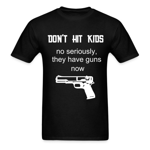 Kids Got Guns(BLACK) - Men's T-Shirt