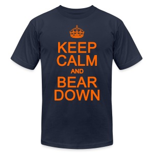 Keep Calm and Bear Down - Men's T-Shirt by American Apparel