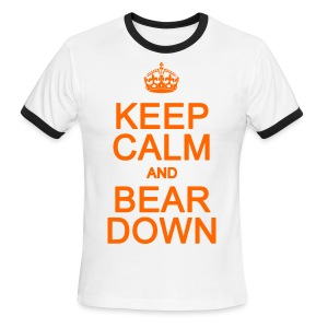 Keep Calm and Bear Down - Men's Ringer T-Shirt