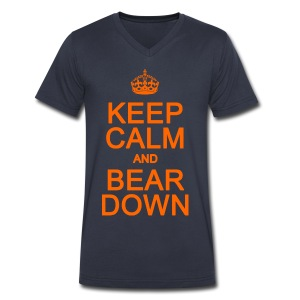 Keep Calm and Bear Down - Men's V-Neck T-Shirt by Canvas