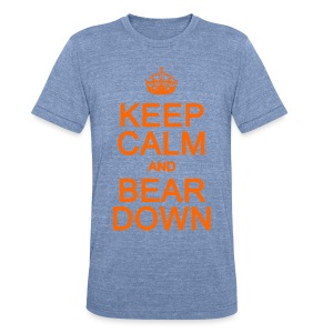Keep Calm and Bear Down - Unisex Tri-Blend T-Shirt by American Apparel