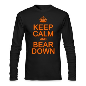 Keep Calm and Bear Down - Men's Long Sleeve T-Shirt by Next Level
