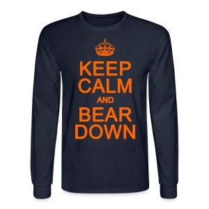 Keep Calm and Bear Down - Men's Long Sleeve T-Shirt