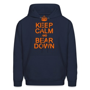 Keep Calm and Bear Down - Men's Hoodie
