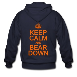 Keep Calm and Bear Down - Men's Zip Hoodie
