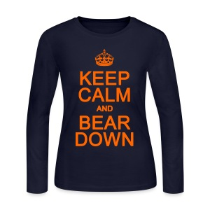 Keep Calm and Bear Down - Women's Long Sleeve Jersey T-Shirt