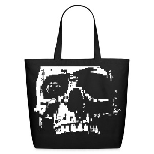 PETSCII Skull - Eco-Friendly Cotton Tote