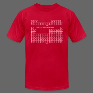 Periodic Table of Michigan - Men's T-Shirt by American Apparel