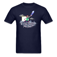 T-Shirts ~ Men's T-Shirt ~ I Can Swing My Sword (Minecraft Diamond Sword Song)