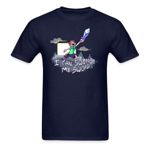 I Can Swing My Sword (Minecraft Diamond Sword Song) - Men's T-Shirt