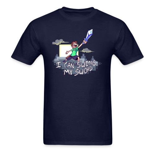 I Can Swing My Sword (Minecraft Diamond Sword Song) - Men's T-Shirt