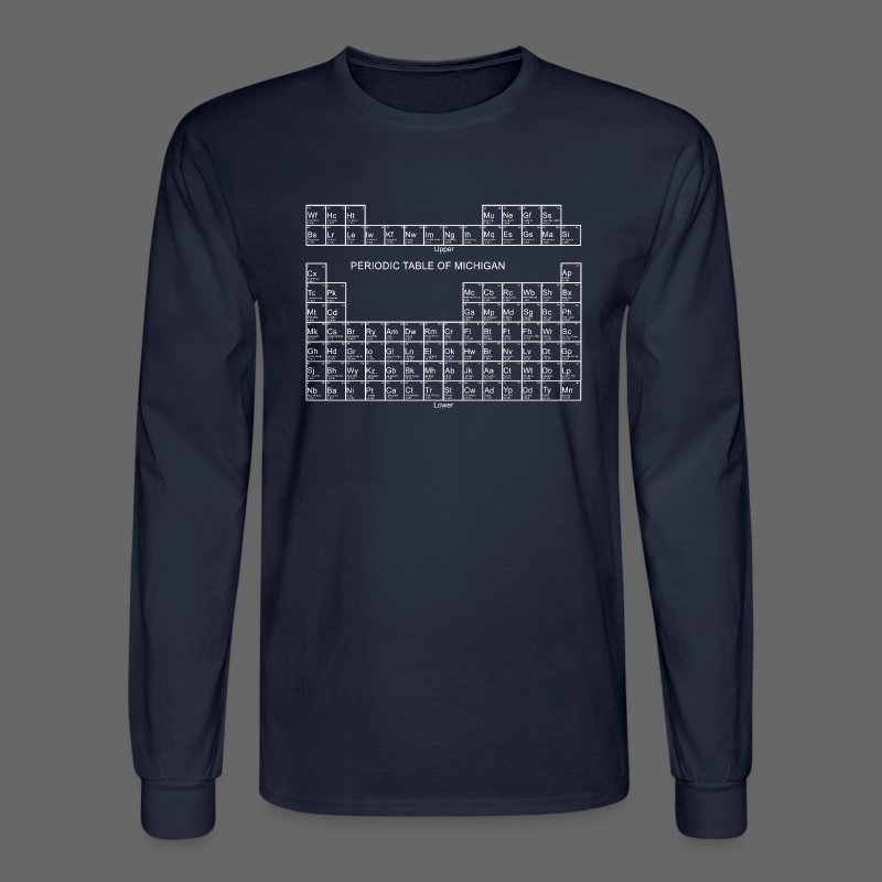 Periodic Table of Michigan - Men's Long Sleeve T-Shirt