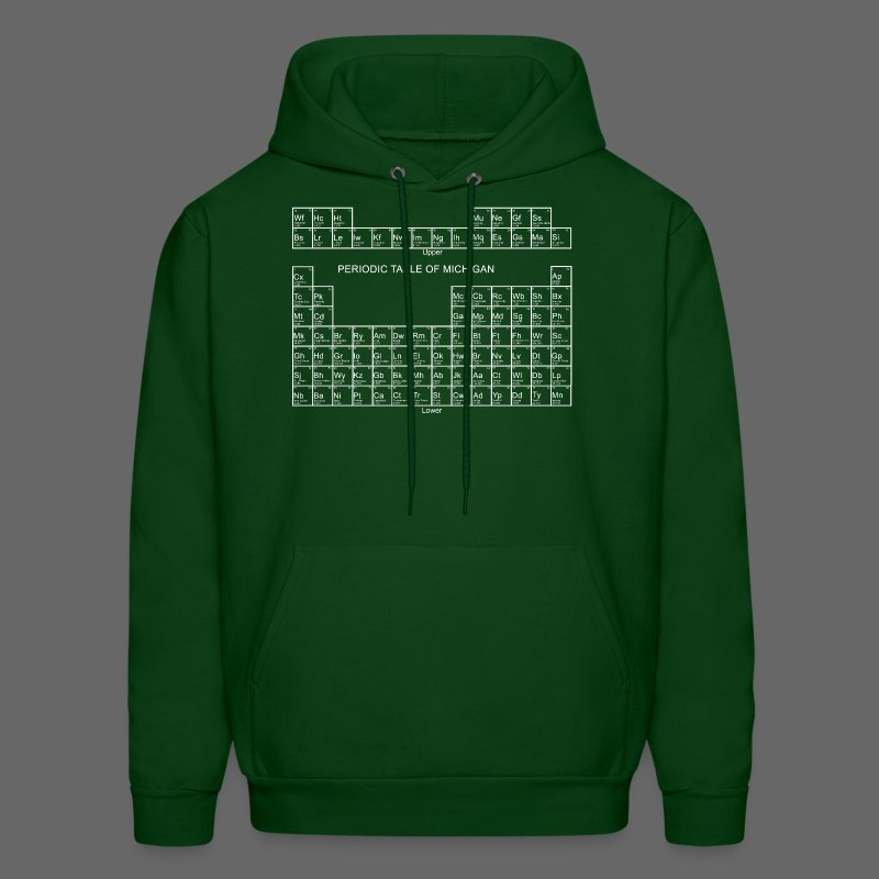 Periodic Table of Michigan - Men's Hoodie
