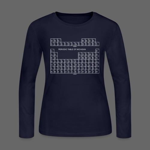 Periodic Table of Michigan - Women's Long Sleeve Jersey T-Shirt