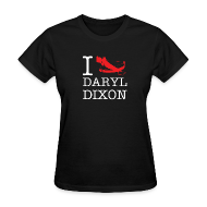 T-Shirts ~ Women's T-Shirt ~ I Crossbow Daryl Dixon - White Logo