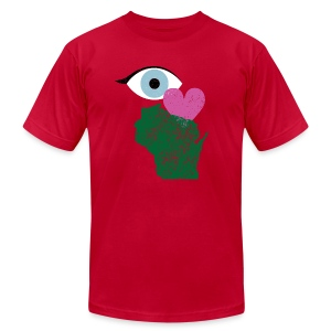 Eye Heart Wisconsin - Men's T-Shirt by American Apparel