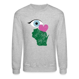 Eye Heart Wisconsin - Crewneck Sweatshirt