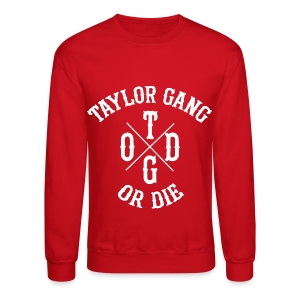 Crewneck Sweatshirt - crewneck,die,gang,khailfa,or,red,taylor,white,wiz