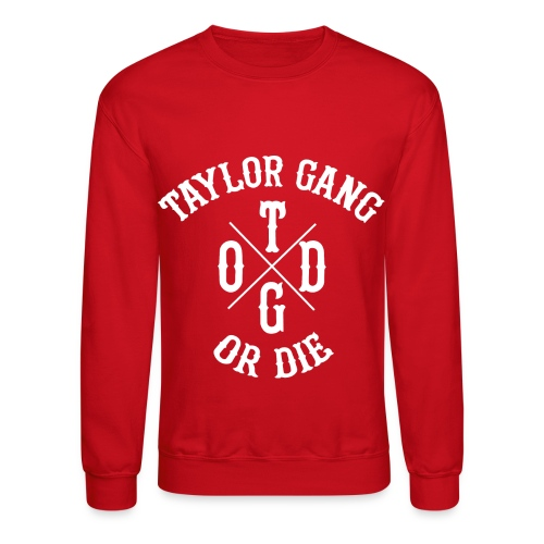 Crewneck Sweatshirt - wiz,white,taylor,red,or,khailfa,gang,die,crewneck
