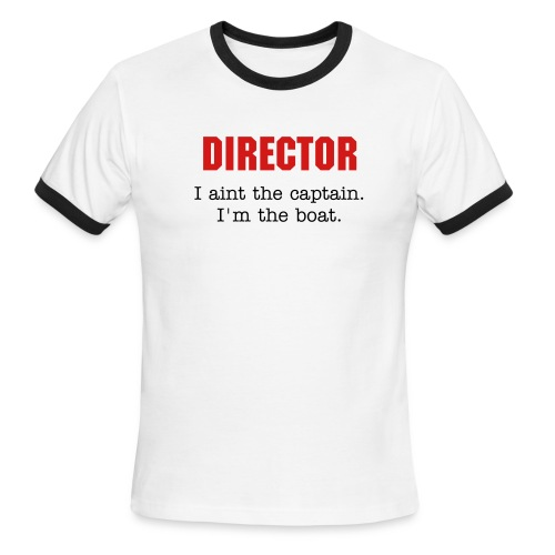 DIRECTOR | Men's Ringer T-Shirt by American Apparel - Men's Ringer T-Shirt