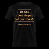 T-Shirts ~ Men's T-Shirt ~ Men's FRONT ONLY: Best Shape (black)