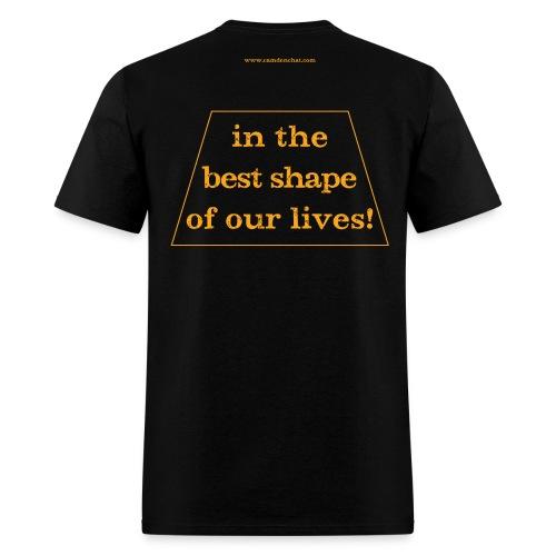 Men's FRONT/BACK: CC/best shape (black) - Men's T-Shirt