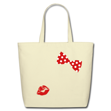 A bow tie with dots Bags