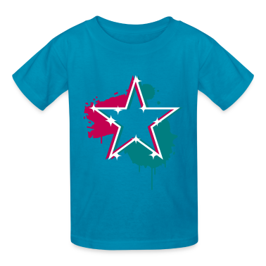 3D graffiti star design  Kids' Shirts