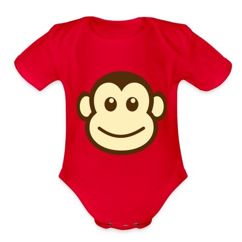 Cute Monkey - Organic Short Sleeve Baby Bodysuit