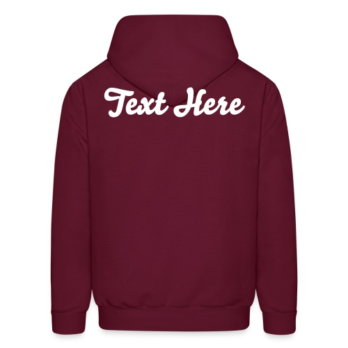 Custom Hoodie (Text Front and Back & Colour) - Men's Hoodie