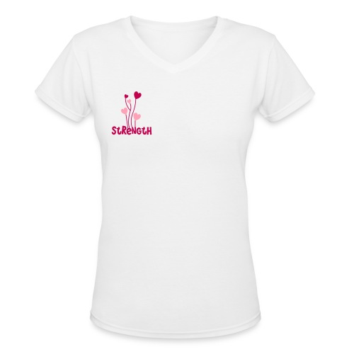 strength - Women's V-Neck T-Shirt