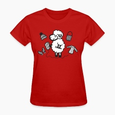 sheep - knitting  Women's T-Shirts