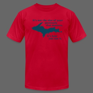 Size of your Peninsula - Men's T-Shirt by American Apparel