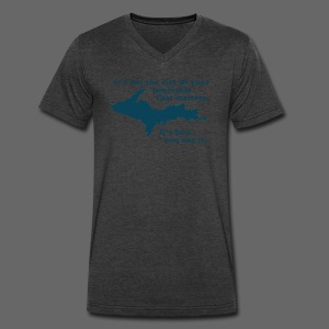 Size of your Peninsula - Men's V-Neck T-Shirt by Canvas