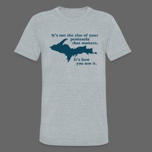 Size of your Peninsula - Unisex Tri-Blend T-Shirt