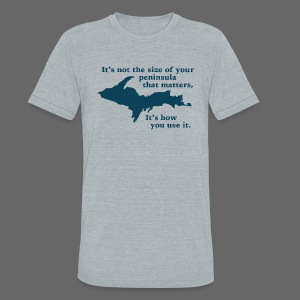 Size of your Peninsula - Unisex Tri-Blend T-Shirt by American Apparel