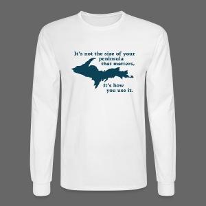 Size of your Peninsula - Men's Long Sleeve T-Shirt