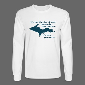 Size of your Peninsula - Men's Long Sleeve T-Shirt