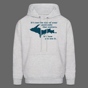 Size of your Peninsula - Men's Hoodie