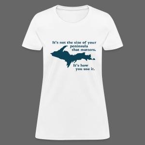 Size of your Peninsula - Women's T-Shirt