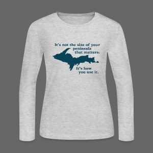 Size of your Peninsula - Women's Long Sleeve Jersey T-Shirt