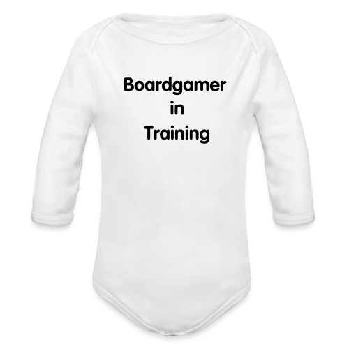 Boardgamer in Training Baby Gear - Organic Long Sleeve Baby Bodysuit