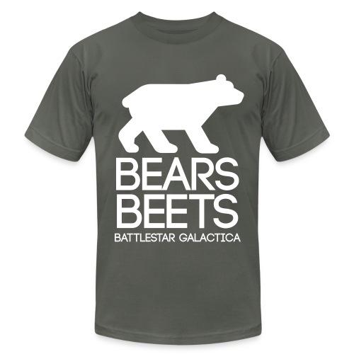 Bears. Beets. Battlestar Galactica - Men's Fine Jersey T-Shirt