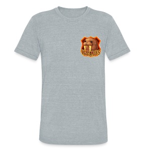 Walrus Shield - Unisex Tri-Blend T-Shirt by American Apparel